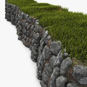 rock wall 3d max