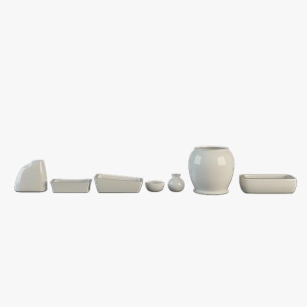 3d porcelain set