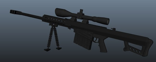 3d model m82 sniper rifle