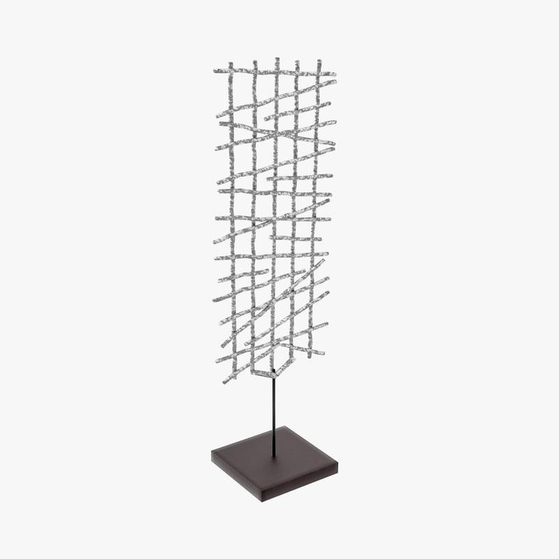 3d model square net sculpture