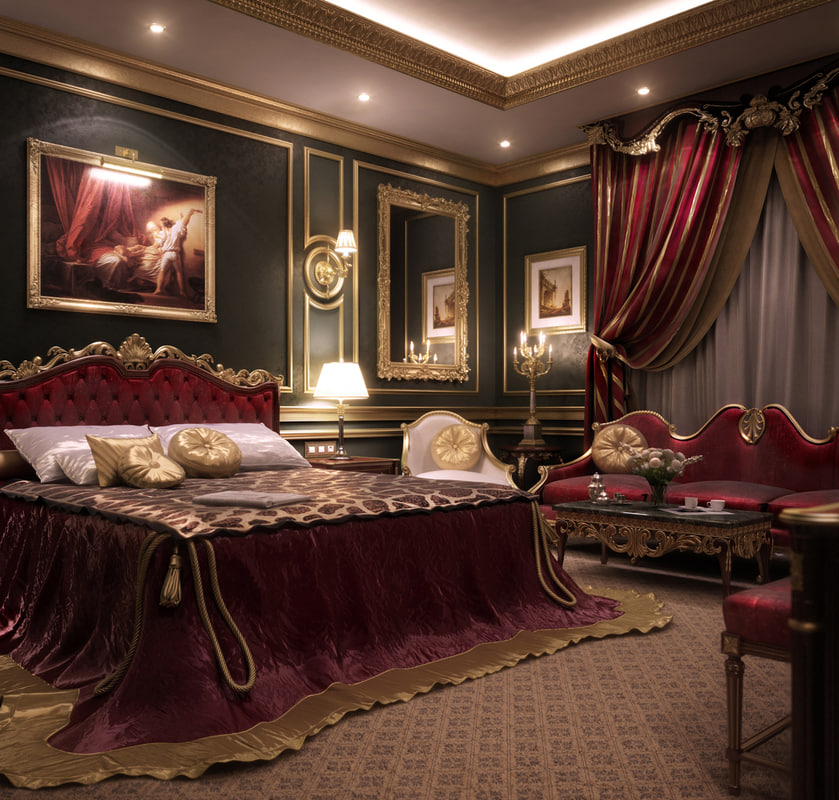3d scene hotel suite
