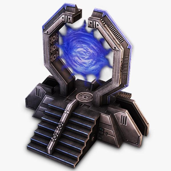 3dsmax warp gate sci-fi