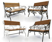 forged benches 3d max
