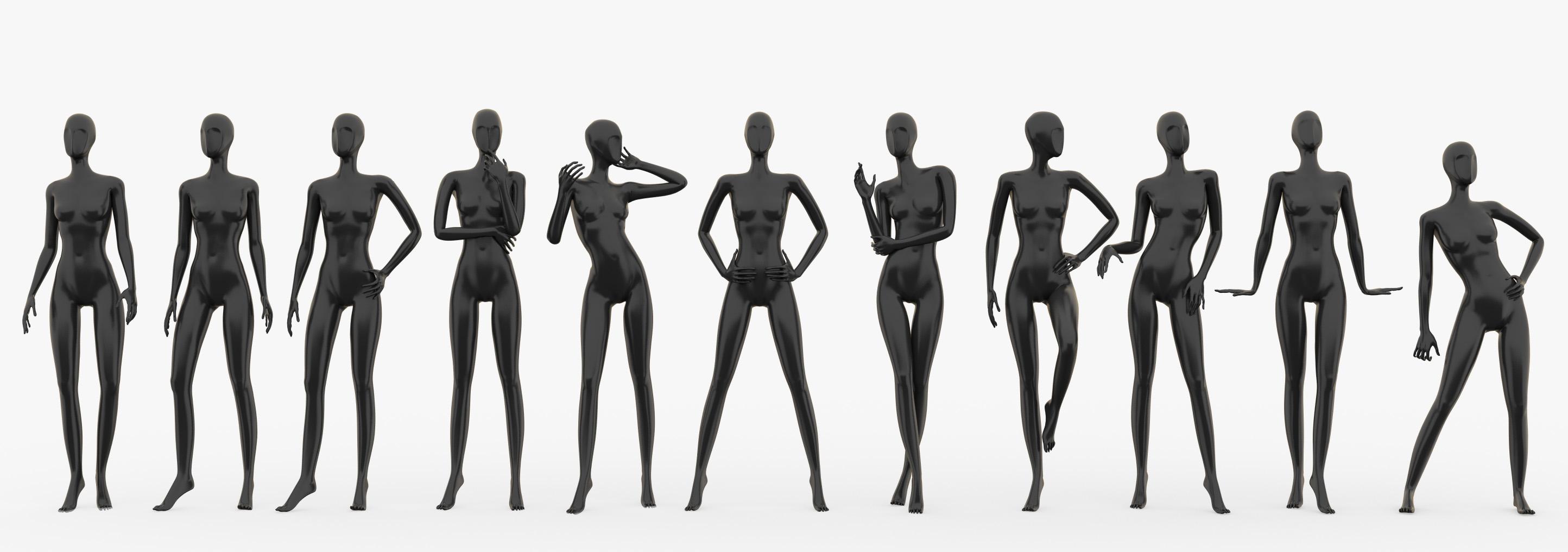 max slim female mannequins