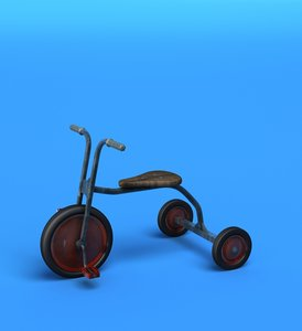 tricycle kids 3d model
