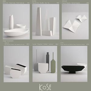 3d model vase kose
