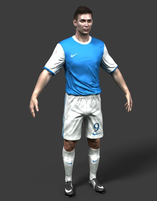 3dsmax soccer player