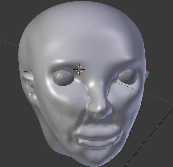 3d basic head