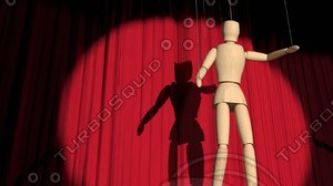 scene puppet curtains 3d model