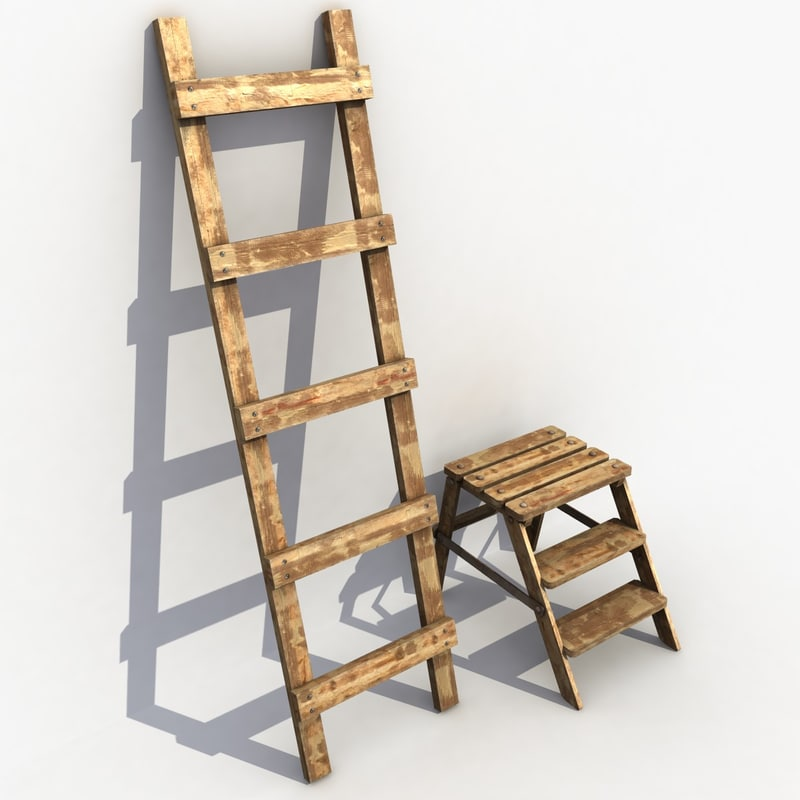 max wood wooden ladder
