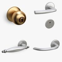 3d model door knob