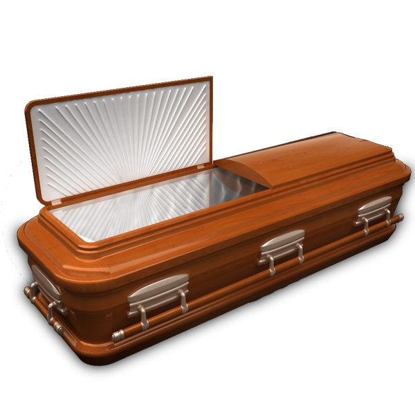 coffin wood 3d model