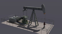 pump jack oil 3d 3ds