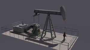 pump jack oil 3d 3ds