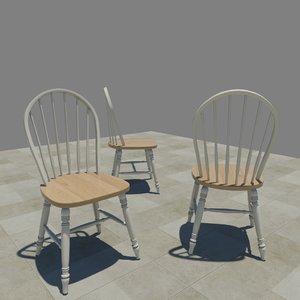 windsor chair 3d model