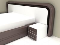 3d model modern bedroom