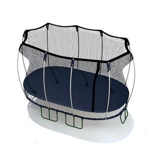 springfree trampoline 3d model