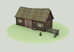 3d village house rural model