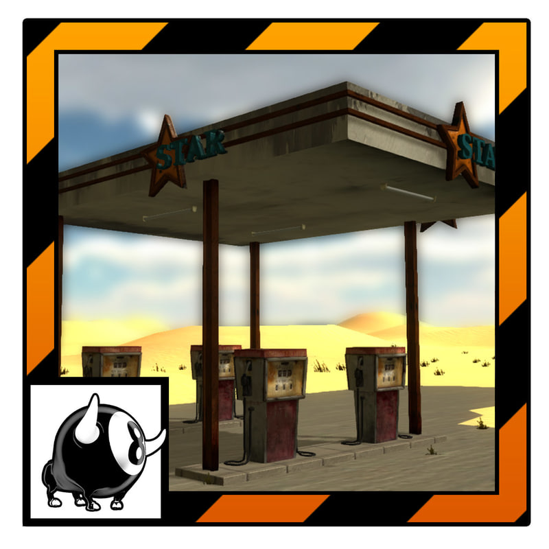 3d unity gas station
