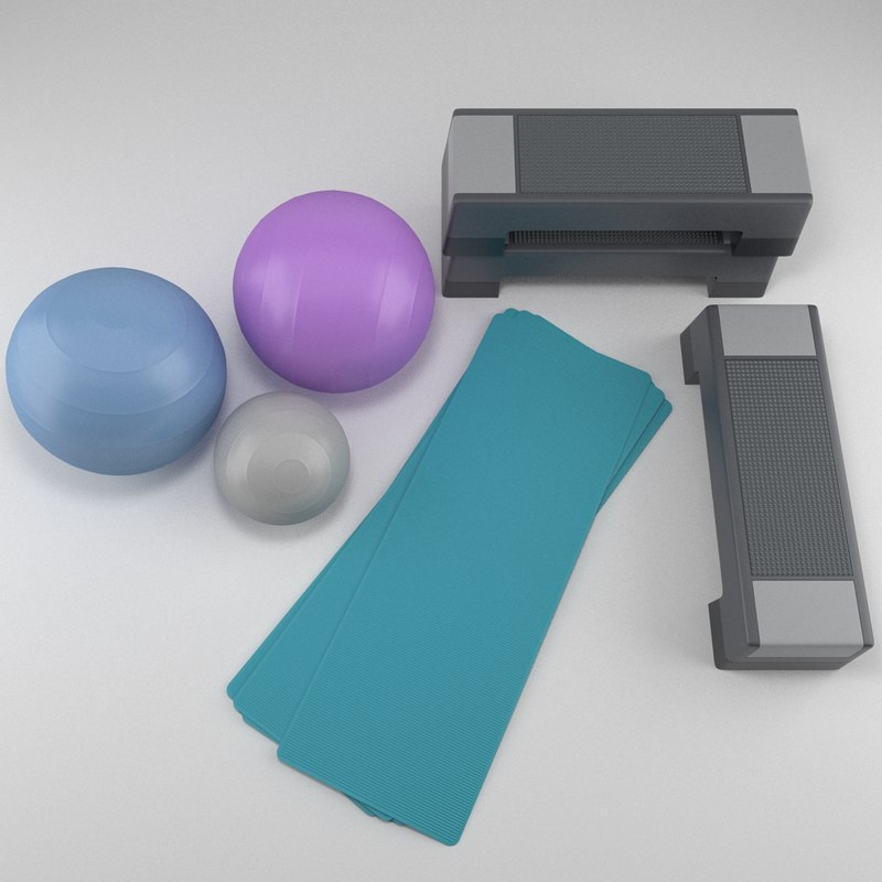 3ds max gym equipment