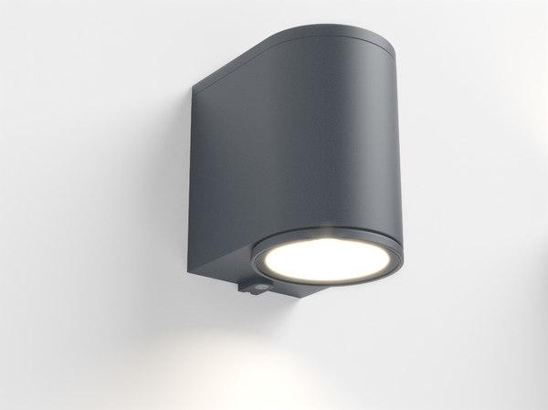 3d erco cylinder facade luminaire model