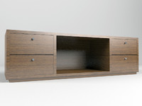 cabinet tv stand 3d model