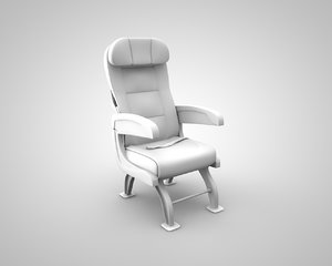 3d aircraft seat model