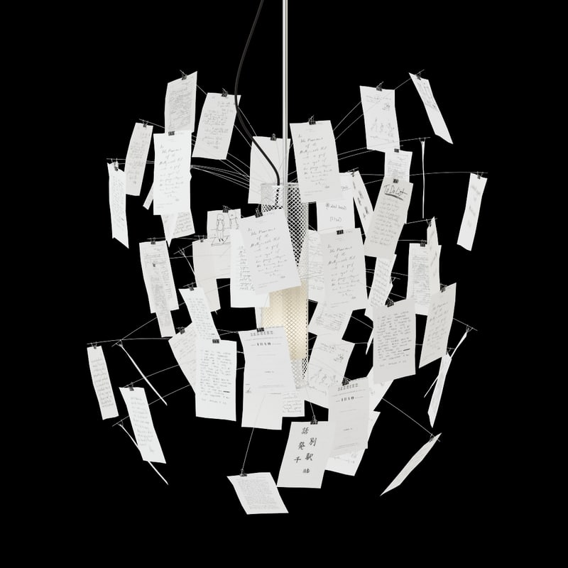 3d model suspension lamp