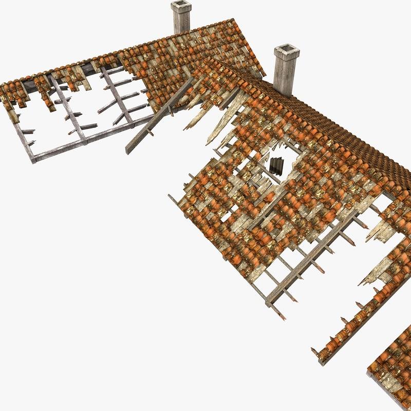 3d roofing debris model