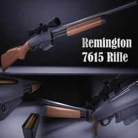 3d remington 7615 rifle