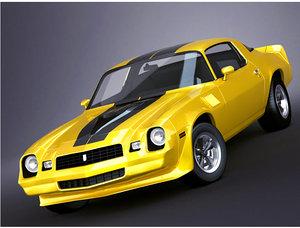 3d model chevrolet camaro 1980 z28