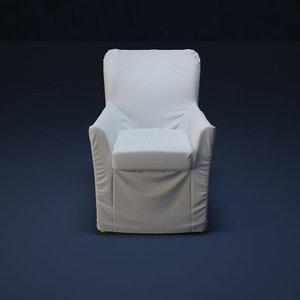 3d max flou chair giorgia