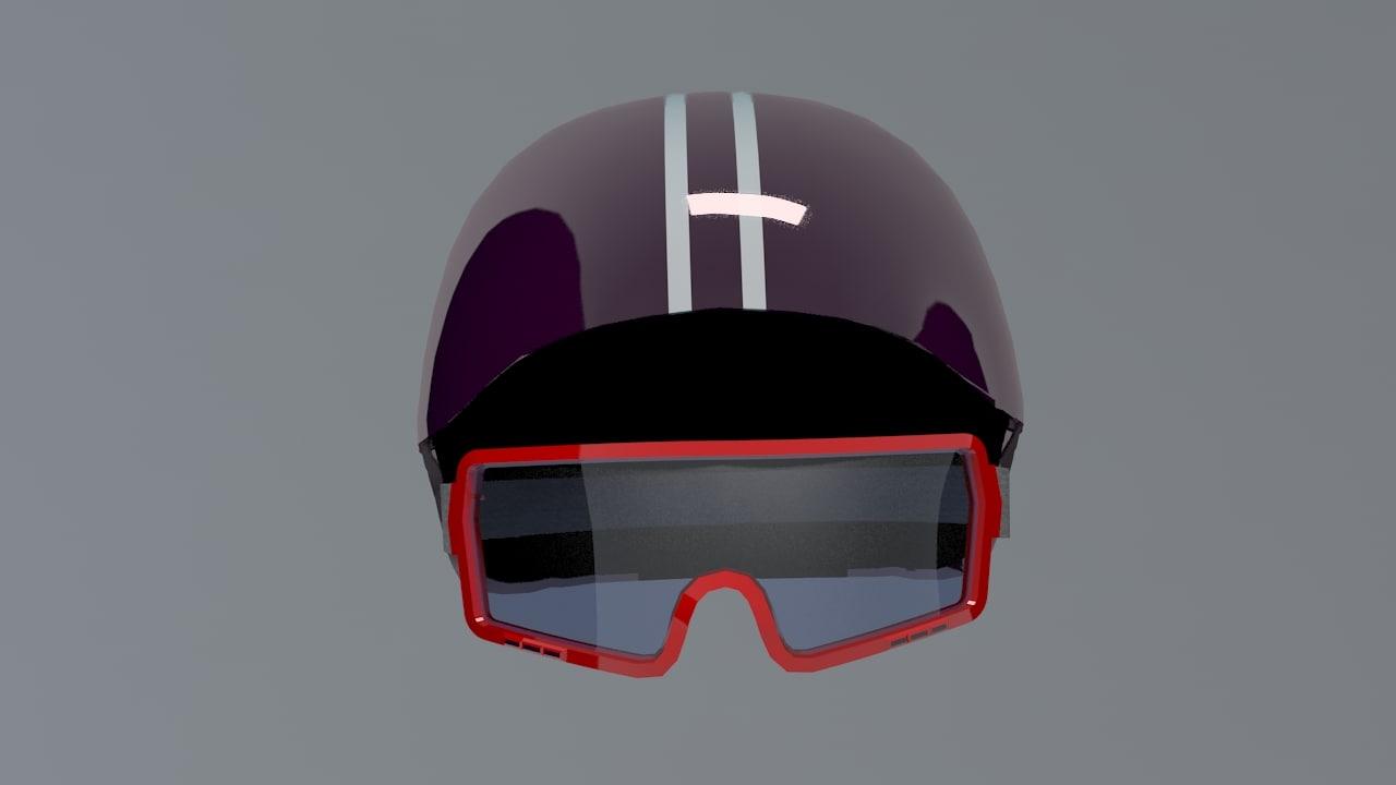 3d model ski helm