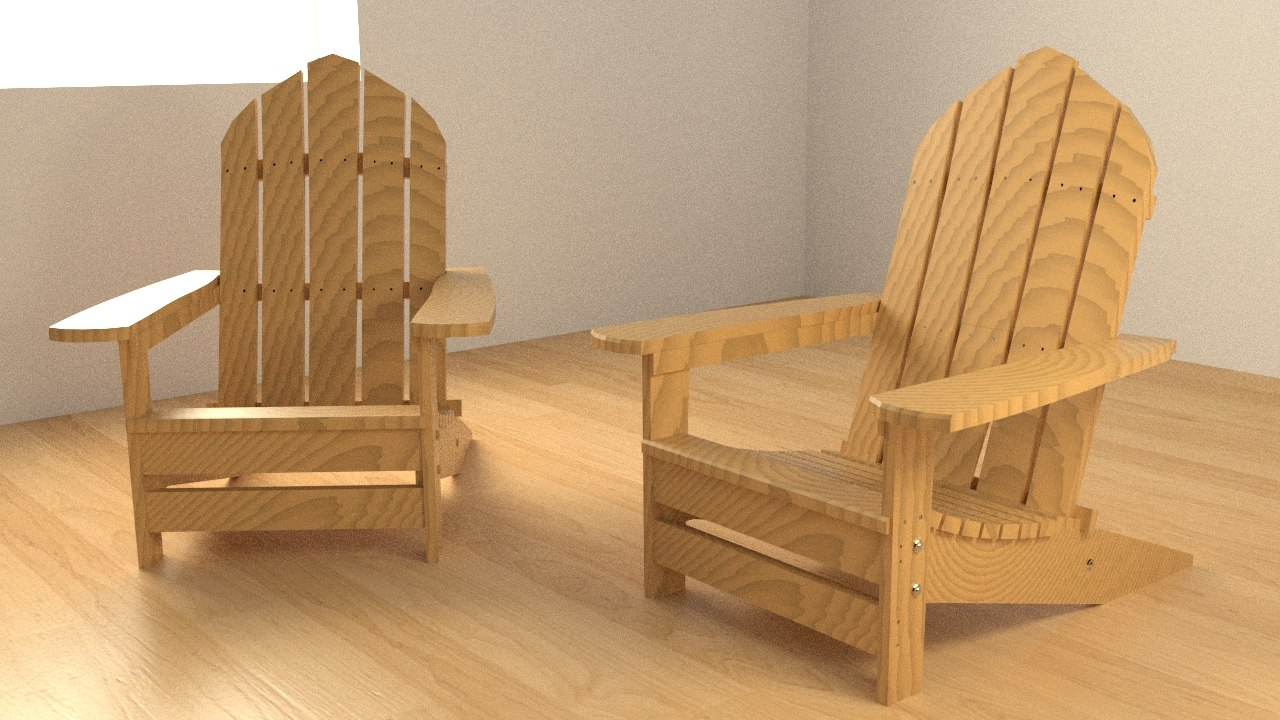 adirondack chair 3ds