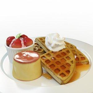 waffle set 01 3d max