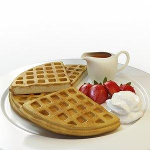 3ds max waffle set 02