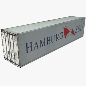 3d hamburg shipping cargo container model