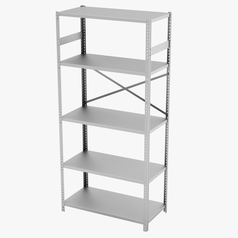 3d model commercial steel shelving tennsco