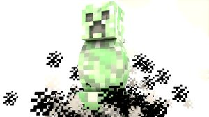 3d minecraft creeper rig model