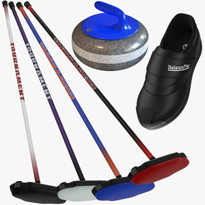 3d model curling equipment