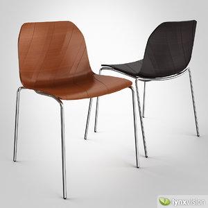 treccia chair 3d model