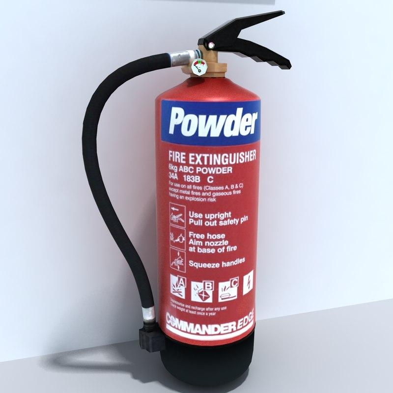 3d powder extinguisher