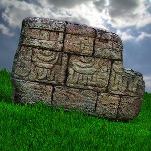 historical aztec 3d max