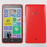 3d model of nokia lumia 625 red