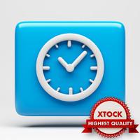 clock icon 3d model