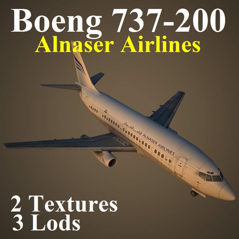 737-200 rfj 3d model