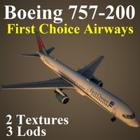 3d boeing 757-200 fca model