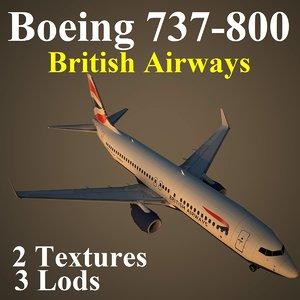 boeing 737-800 baw 3d model