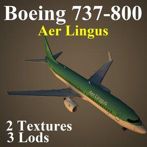 3d boeing 737-800 ein model