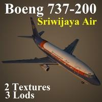 737-200 sjy 3d model